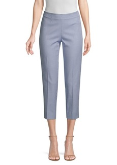 Piazza Sempione Audrey Checked Stretch Cropped Pants
