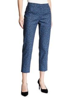 Piazza Sempione Audrey Floral Side-Zip Pants