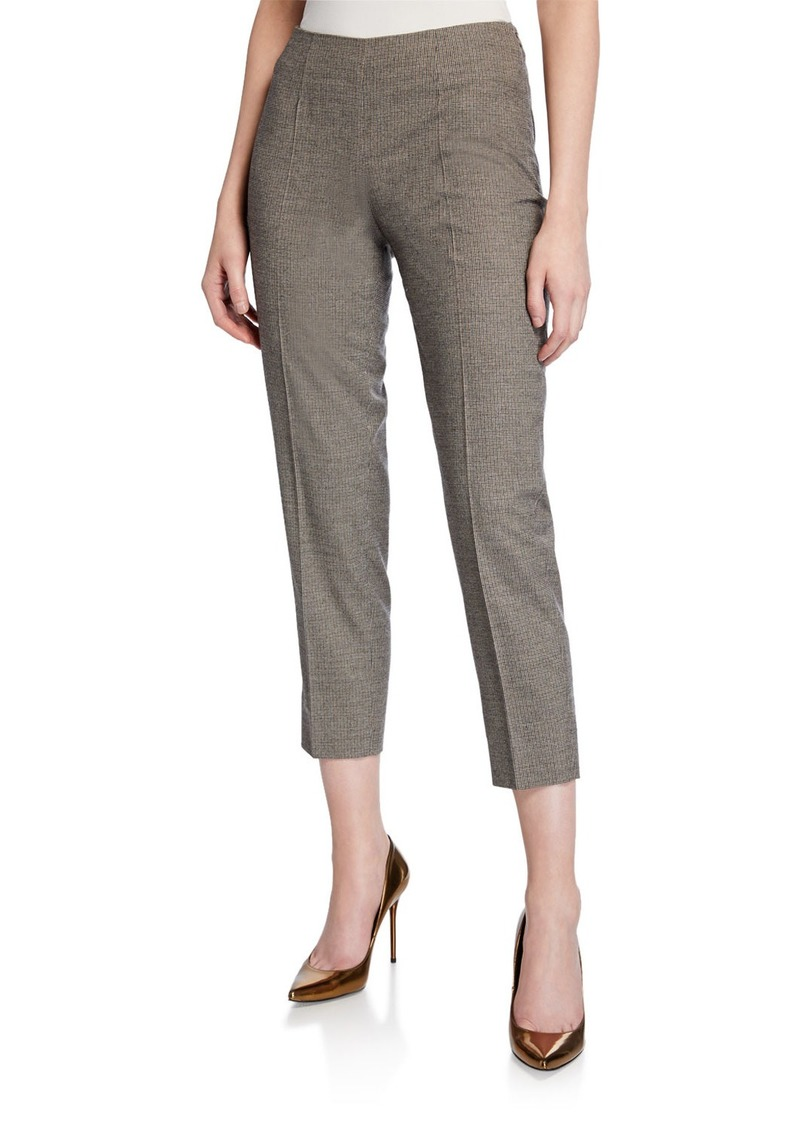 Piazza Sempione Audrey Glen-Plaid Pants