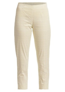 Piazza Sempione Audrey Printed Stretch Cotton Cropped Pants