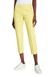 Piazza Sempione Audrey Stretch Cotton Crop Pants  Yellow