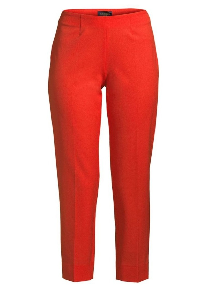 Piazza Sempione Audrey Stretch-Wool Pants