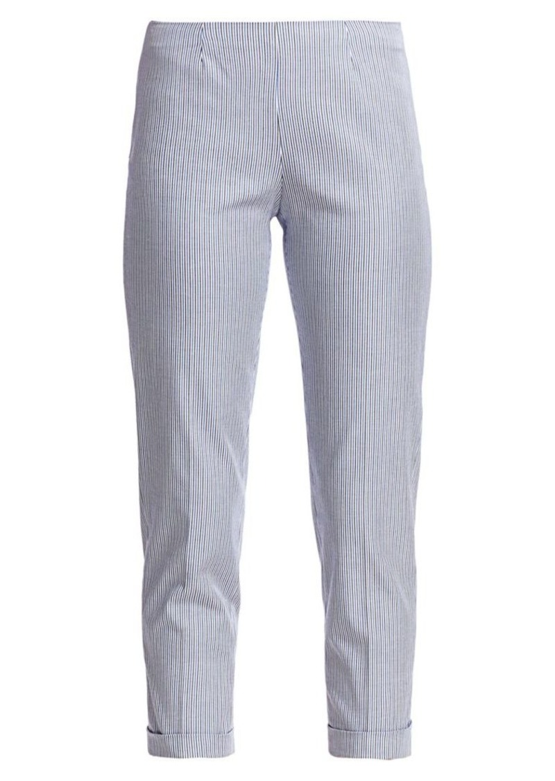Piazza Sempione Audrey Striped Cuffed Pants