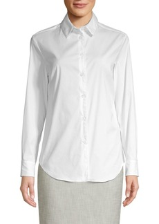Piazza Sempione Beaded Button-Down Shirt