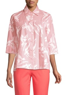 Piazza Sempione Brushstroke Striped Button-Down Shirt