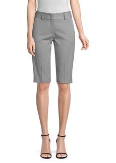 Piazza Sempione Checked Stretch Cotton Bermuda Shorts