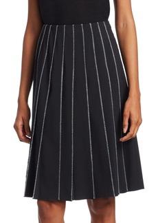 Piazza Sempione Contrast-Stitch Pleated Skirt