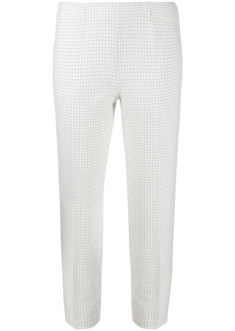 Piazza Sempione cropped check-print trousers
