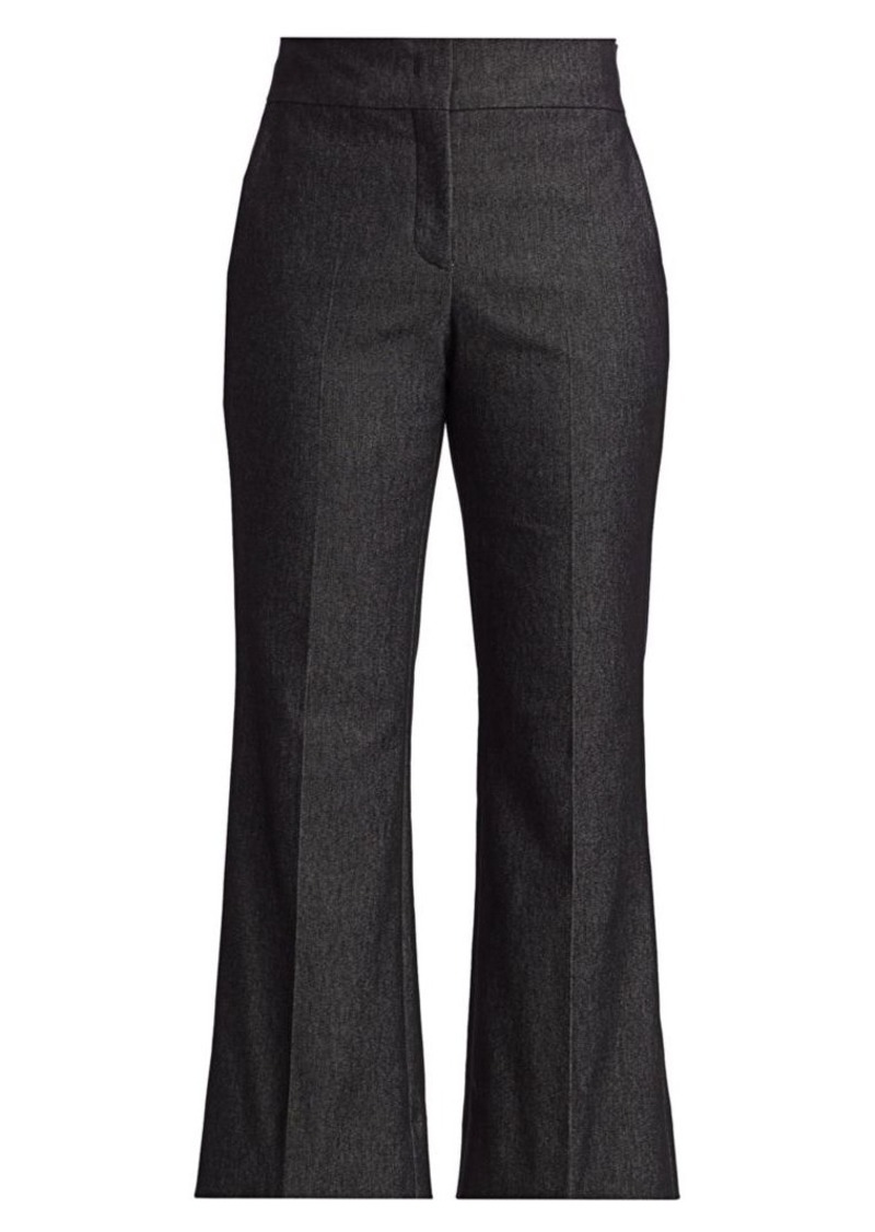 Piazza Sempione Cropped Flare Chambray Pants