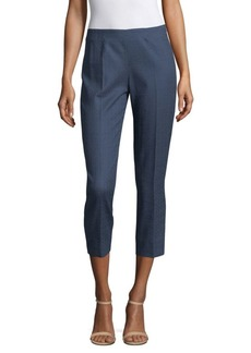 Piazza Sempione Cropped Pintuck Pants