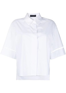 Piazza Sempione embroidered short-sleeved shirt