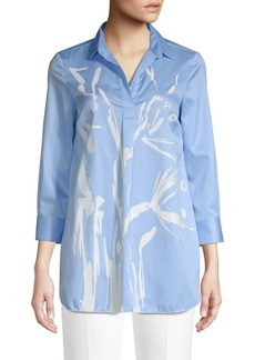 Piazza Sempione Eugenia Brush Stroke Striped Tunic