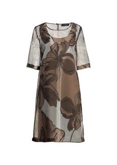 Piazza Sempione Floral Organza A-Line Dress