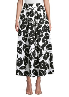 Piazza Sempione Floral Printed A-Line Skirt