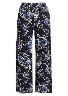 Piazza Sempione Floral Wide-Leg Trousers