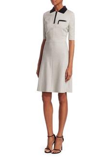 Piazza Sempione Grid-Check Polo Dress