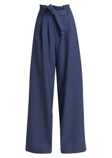 Piazza Sempione High-Waist Belted Wide-Leg Pants