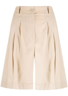 Piazza Sempione high-waisted knee-length shorts