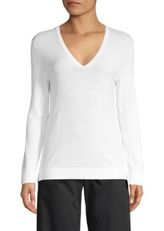 Piazza Sempione Knit V-Neck Top