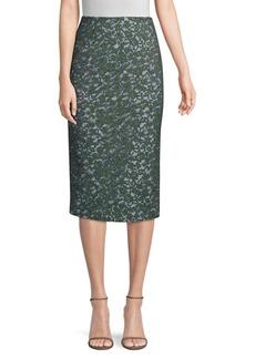 Piazza Sempione Lace and Stripe Pencil Skirt