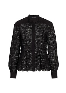 Piazza Sempione Lace Long Sleeve Shirt