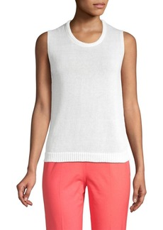 Piazza Sempione Linen & Cotton Knit Tank Top