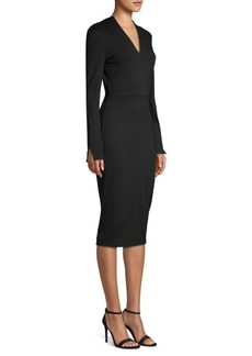 Piazza Sempione Long Sleeve Jersey Sheath Dress