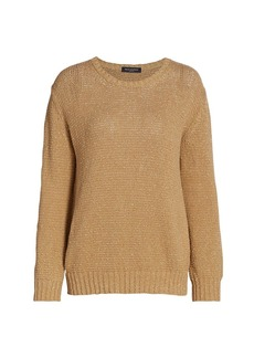 Piazza Sempione Lurex Long-Sleeve Knit Sweater