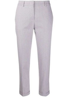 Piazza Sempione micro check print cropped trousers