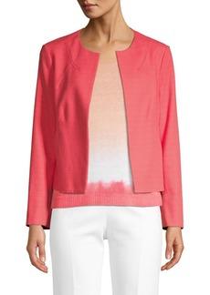 Piazza Sempione Open Front Cotton-Blend Jacket