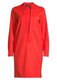 Piazza Sempione Ovoid Stretch Virgin Wool Dress