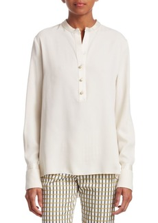 Piazza Sempione Pearl-Button Blouse