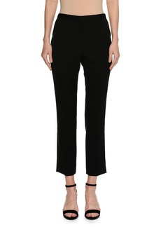 Piazza Sempione Audrey Flat-Front Cropped Straight-Leg Pants