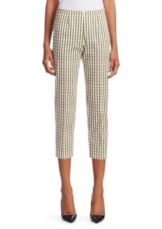 Piazza Sempione Audrey Side-Zip Check Pants