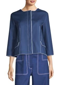 Piazza Sempione Boxy Contrast Trim Jacket