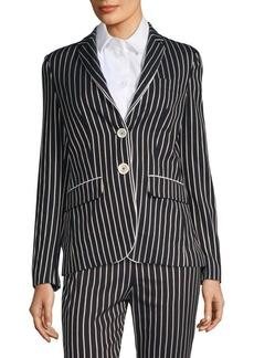 Piazza Sempione Classic Stripe Blazer