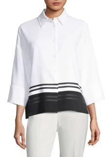 Piazza Sempione Colorblock Shirt Jacket