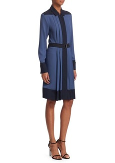 Piazza Sempione Colorblock Shirtdress