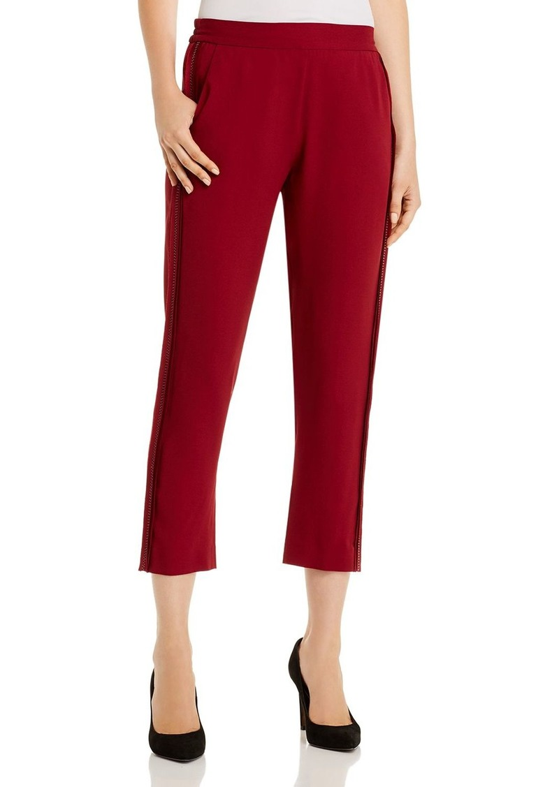 Piazza Sempione Cropped Topstitched Side-Stripe Pants