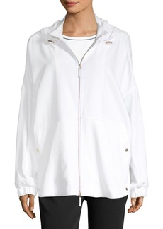 Piazza Sempione Front-Zip Hooded Jacket