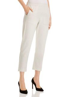 Piazza Sempione Hilary Cropped Check-Pattern Pants