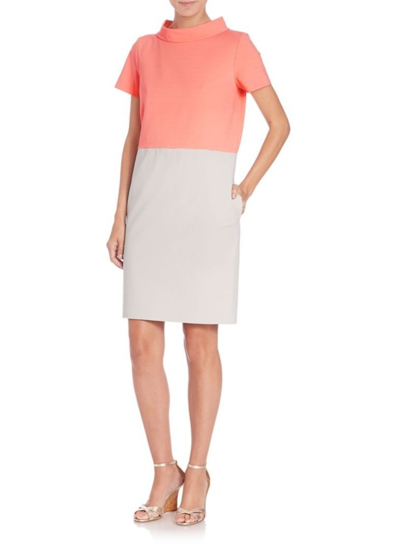 Piazza Sempione Mockneck Colorblock Dress