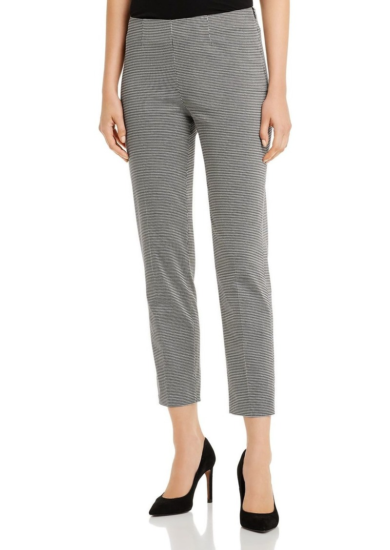 Piazza Sempione Monia Cropped Printed Cotton Stretch Pants