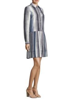 Piazza Sempione Silk Button-Front Dress