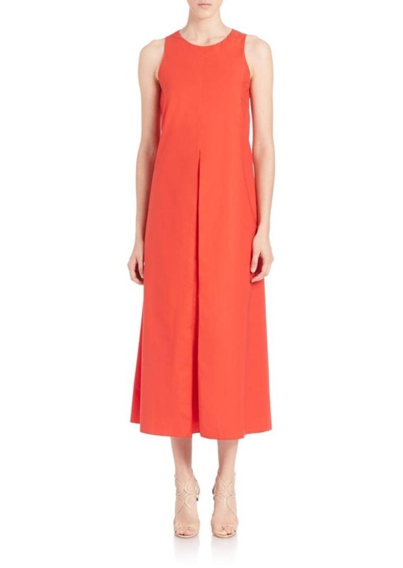 Piazza Sempione Sleeveless Cotton Poplin Maxi Dress