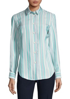 Piazza Sempione Stripe Button-Front Shirt