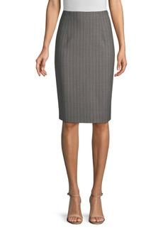 Piazza Sempione Pinstripe Pencil Skirt