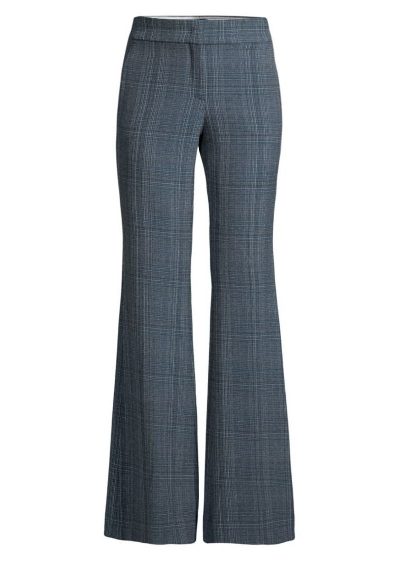 Piazza Sempione Plaid Flared Pants