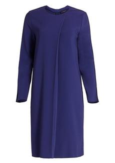 Piazza Sempione Pleat-Front Shift Dress
