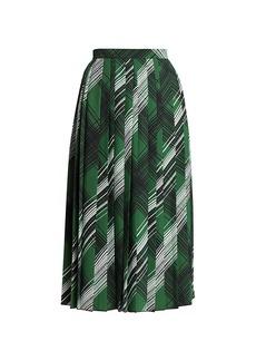 Piazza Sempione Pleated Printed Skirt